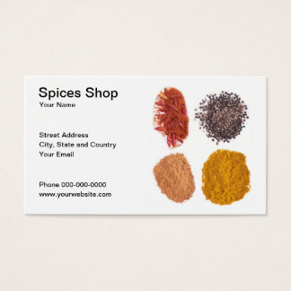 Spices Shop Business Card
