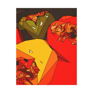Spicy Bell Pepper Trio Canvas Prints