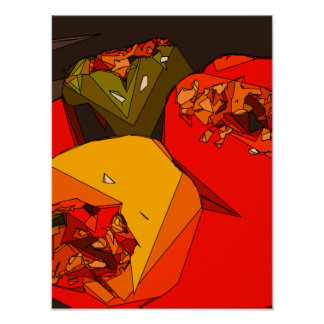 Spicy Bell Pepper Trio Poster