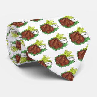 Spicy Buffalo Chicken Wings w/ Celery Foodie Tie