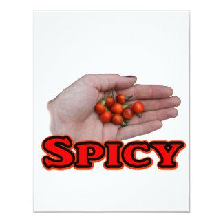 Spicy Cascabel Hot Pepper Design 11 Cm X 14 Cm Invitation Card