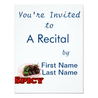 Spicy Chocolate habanero Hot Pepper Design 4.25x5.5 Paper Invitation Card
