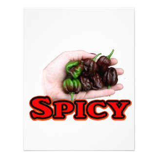 Spicy Chocolate habanero Hot Pepper Design Announcements