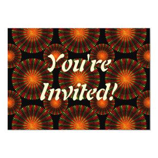 Spicy Coronas 13 Cm X 18 Cm Invitation Card
