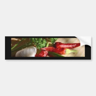 Spicy cuisine art bumper stickers