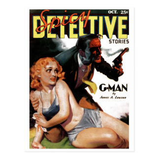 Spicy Detective - G-Man Postcard