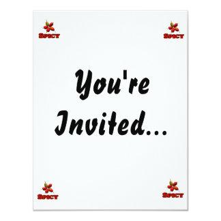 Spicy Five Habanero Hot Pepper Design 11 Cm X 14 Cm Invitation Card
