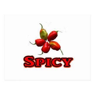 Spicy Five Habanero Hot Pepper Design Postcard