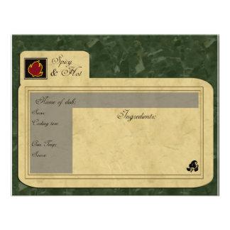 spicy food recipe card custom invites