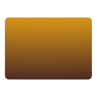 Spicy Gold Brown Ombre 13 Cm X 18 Cm Invitation Card
