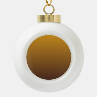 Spicy Gold Brown Ombre Ceramic Ball Decoration