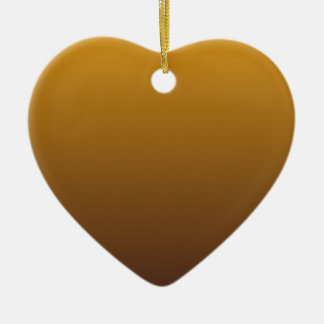 Spicy Gold Brown Ombre Ceramic Heart Decoration