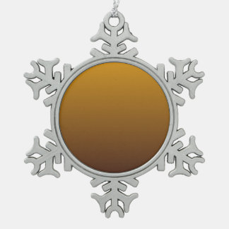 Spicy Gold Brown Ombre Pewter Snowflake Decoration