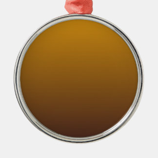Spicy Gold Brown Ombre Silver-Colored Round Decoration