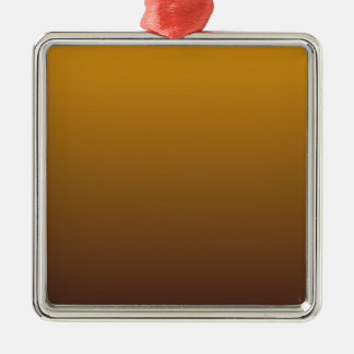 Spicy Gold Brown Ombre Silver-Colored Square Decoration