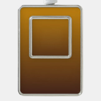 Spicy Gold Brown Ombre Silver Plated Framed Ornament