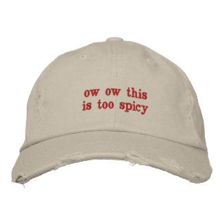 spicy hat embroidered hat
