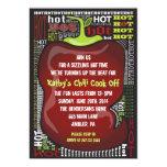 SPICY HOT CHILI PEPPER Party Invitation Invite 13 Cm X 18 Cm Invitation Card