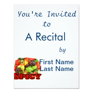 Spicy ! Hot habanero Pepper Pile Pepper Lover Gift 11 Cm X 14 Cm Invitation Card