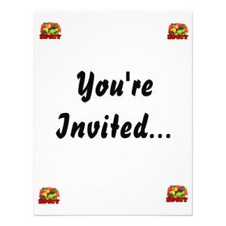 Spicy Hot habanero Pepper Pile Pepper Lover Gift Personalized Invites
