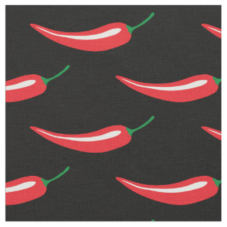 Spicy hot red chili pepper DIY fabric