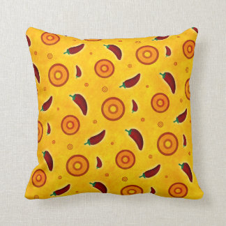 Spicy Hot Southwest Chili Pepper Pattern Cushion