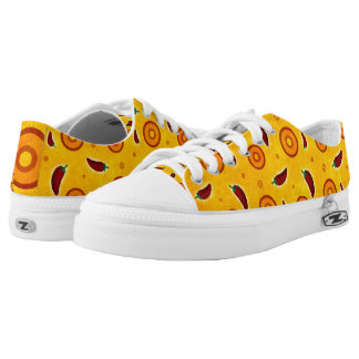 Spicy Hot Southwest Chili Pepper Pattern Low Tops