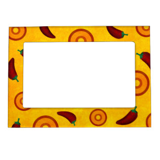 Spicy Hot Southwest Chilli Pepper Collage Magnetic Frame