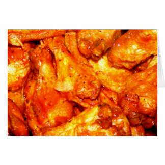 Spicy Hot Wings Greeting Card