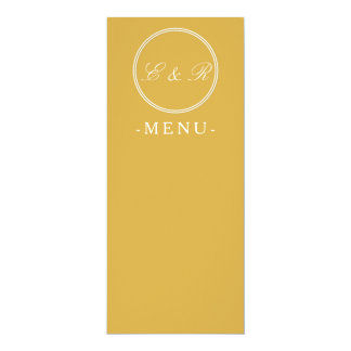 Spicy Mustard with White Wedding Detail 10 Cm X 24 Cm Invitation Card