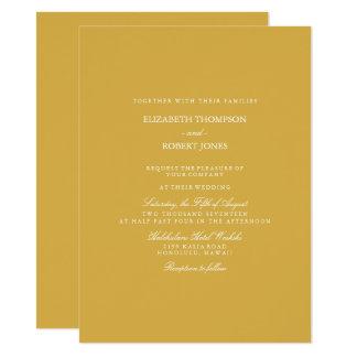 Spicy Mustard with White Wedding Detail Card