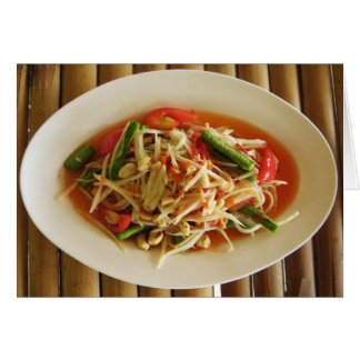 Spicy Papaya Salad [Som Tam] Card