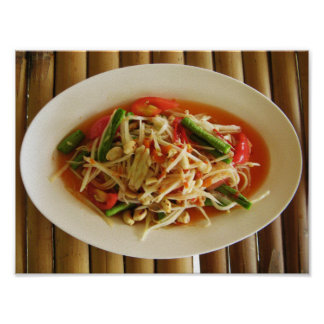 Spicy Papaya Salad [Som Tam] Poster