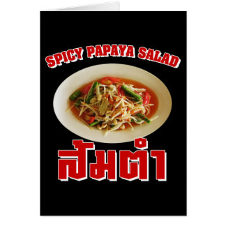 Spicy Papaya Salad [Som Tam] ... Thai Lao Food Card