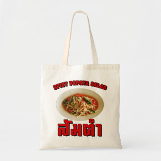 Spicy Papaya Salad [Som Tam] ... Thai Lao Food Tote Bag