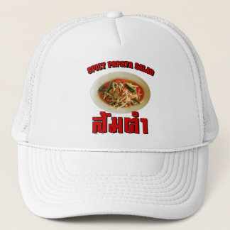 Spicy Papaya Salad [Som Tam] ... Thai Lao Food Trucker Hat