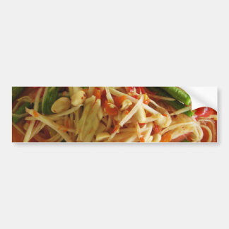 Spicy Papaya Salad [Som Tam] ... Thai Street Food Bumper Sticker