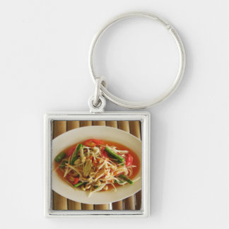 Spicy Papaya Salad [Som Tam] Thai Street Food Key Ring