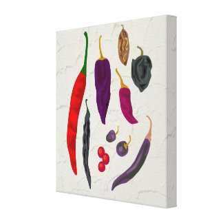 Spicy Peppers Kitchen Art Canvas Print