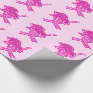 Spicy Pink Lion Ribbon Wrapping Paper