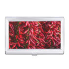 Spicy Red Chilli In The Town Of Kalocsa Business Card Holder