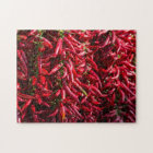 Spicy Red Chilli In The Town Of Kalocsa Jigsaw Puzzle