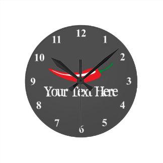 Red Kitchen Wall Clocks Zazzle Co Uk