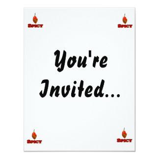 Spicy Single Habanero Hot Pepper Design 11 Cm X 14 Cm Invitation Card