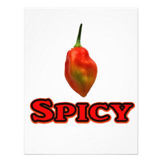 Spicy Single Habanero Hot Pepper Design Personalized Invite