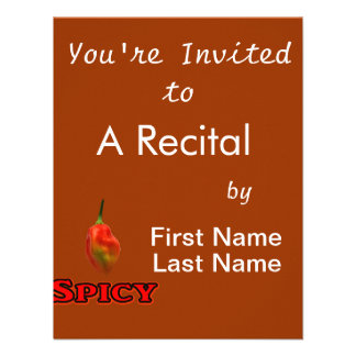 Spicy Single Habanero Hot Pepper Design Personalized Announcements