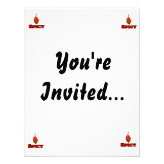 Spicy Single Habanero Hot Pepper Design Personalized Invite