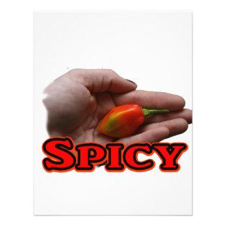 Spicy Single Hand Habanero Hot Pepper Design Announcement