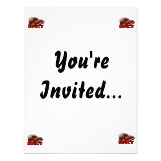 Spicy Single Hand Habanero Hot Pepper Design Invitations