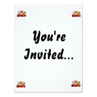 Spicy White Habanero Hot Pepper Design 11 Cm X 14 Cm Invitation Card